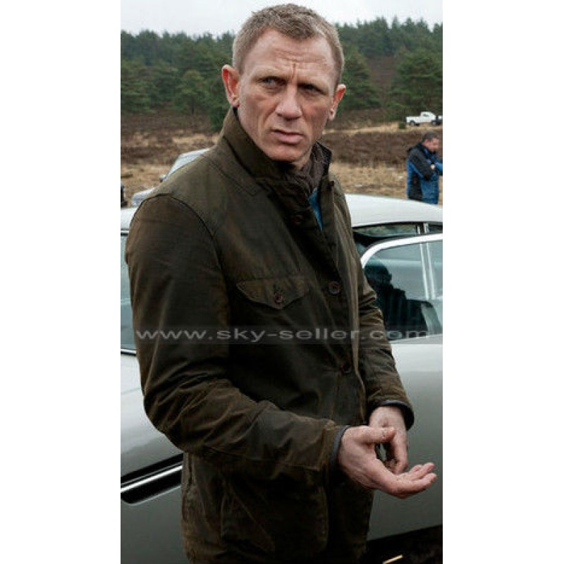 Skyfall James Bond Stylish Daniel Craig Casula Wear Leather Jacket BEST SALE