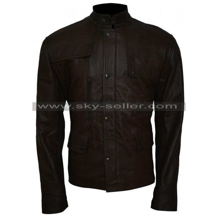 Deadpool Ajax (Ed Skrein) Black Leather Jacket
