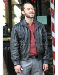 Dom Hemingway Jude Law Black Leather Jacket