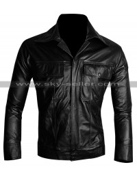 King of Rock Elvis Presley Vintage Black Leather Jacket