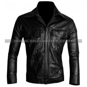 King of Rock Elvis Presley Vintage Black Leather Jacket