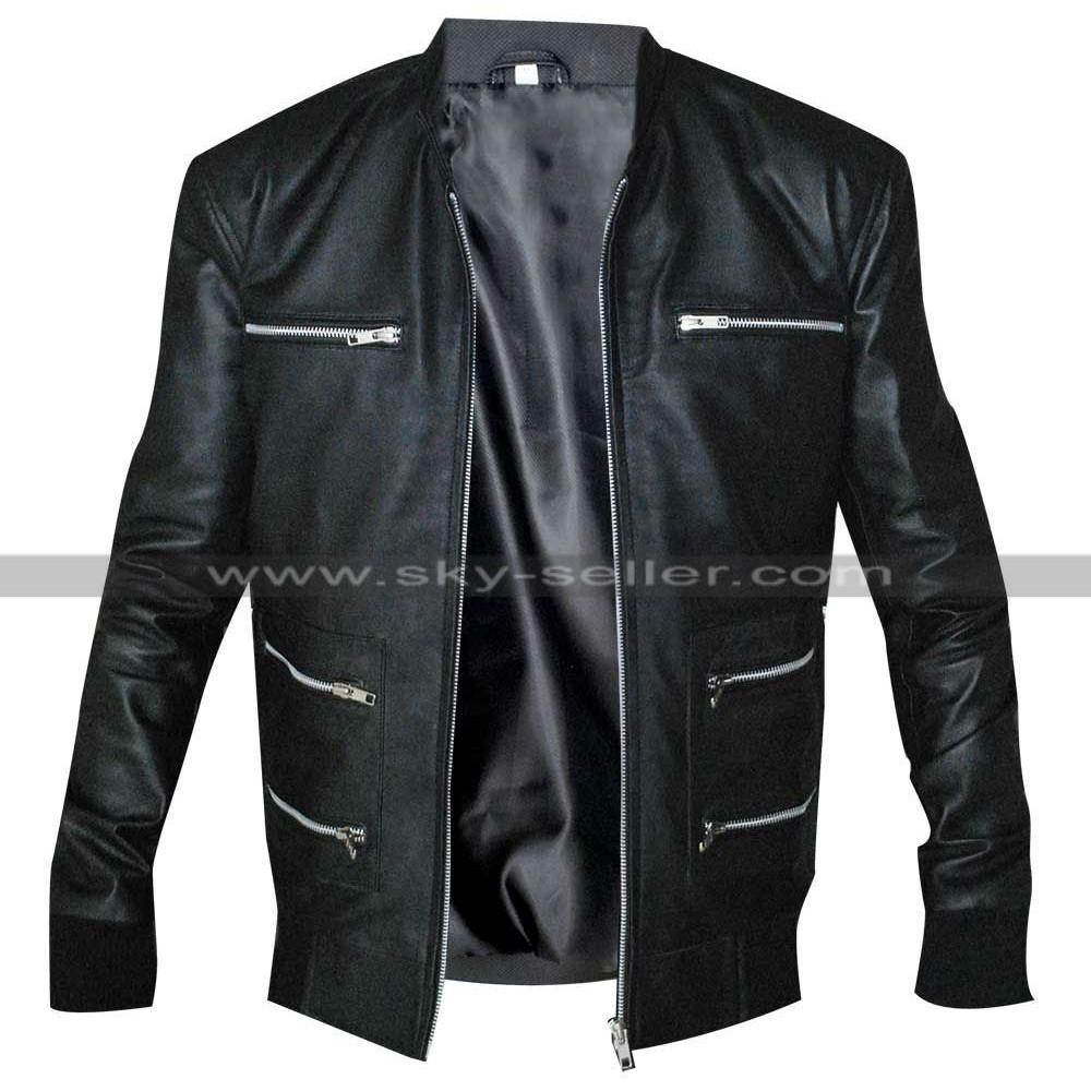 Eminem Grammy Awards Motorcycle Black Leather Jacket
