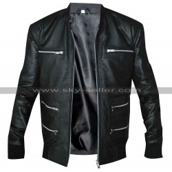 Eminem Grammy Awards Motorcycle Black Leather Jacket