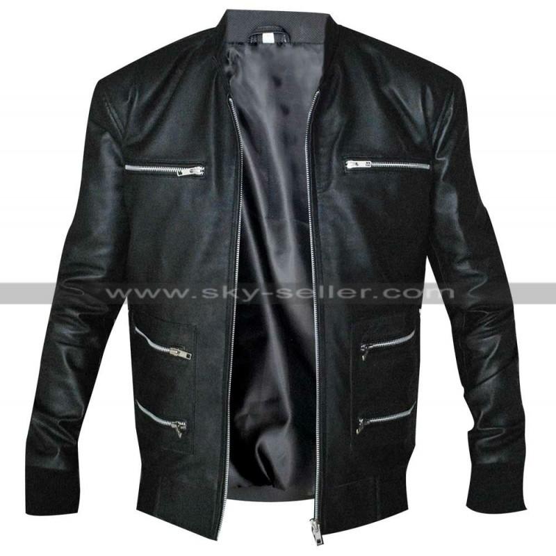 Grammy Awards Motorcycle Black Leather Jacket
