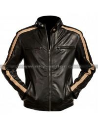 Eric Johnson Flash Gordon Black Leather Jacket