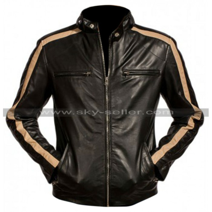 Eric Johnson Flash Gordon Black Leather Jacket