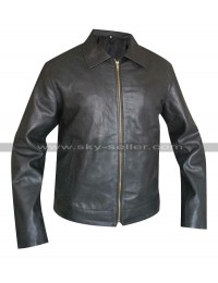 Faster Dwayne Johnson Driver Black Leather Jacket