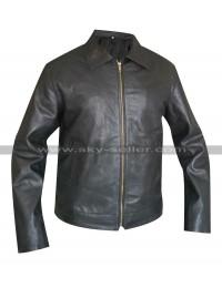 Faster Dwayne Johnson Driver Black Leather Jacket