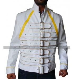 Freddie Mercury Concert White Leather Jacket