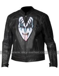 Kiss the Demon Love Gun Gene Simmons Studded Jacket