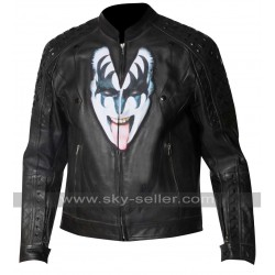 Kiss the Demon Love Gun Gene Simmons Studded Jacket