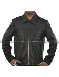 Layer Cake Daniel Craig Black Leather Jacket