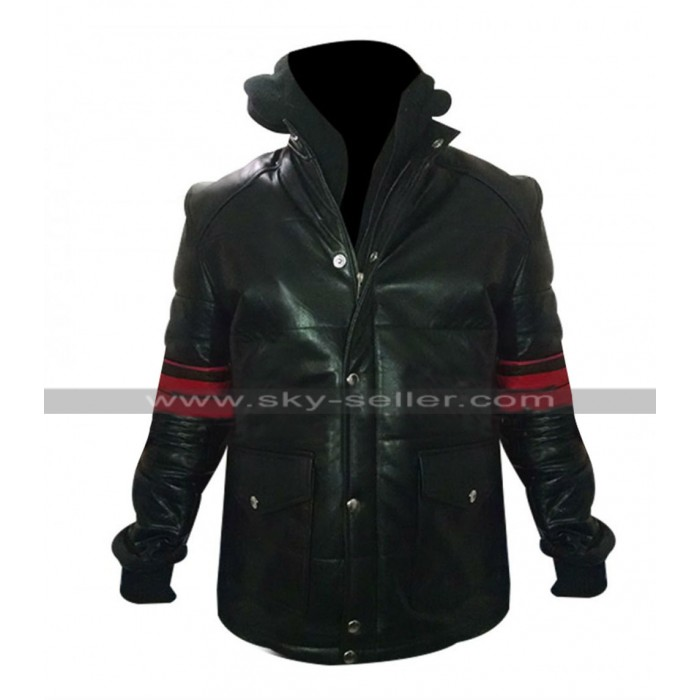 Limitless Brian Finch Stripes Leather Jacket