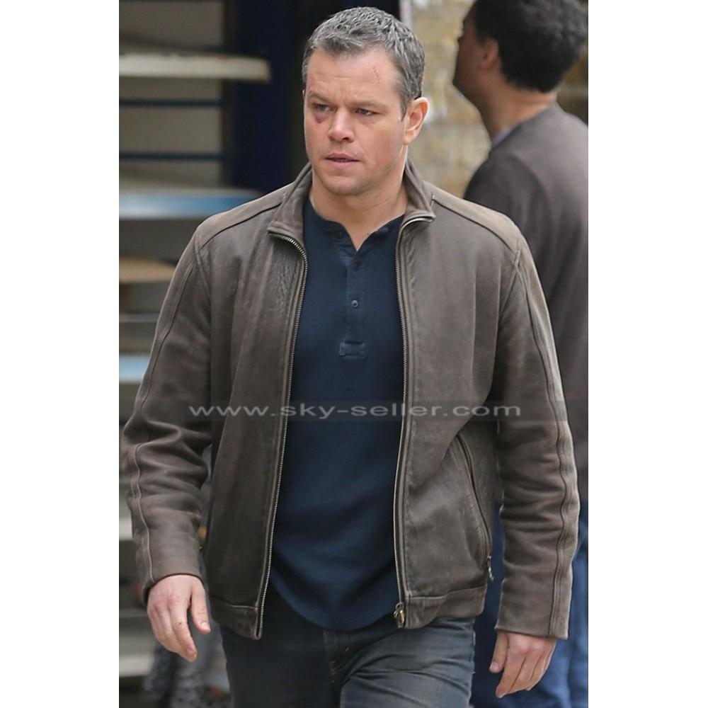 Matt Damon Jason Bourne Brown Leather Jacket