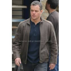 Matt Damon Jason Bourne Brown Leather Jacket