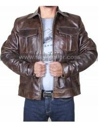 Copper Rub Buff Classic Biker Style Vintage Leather Jacket