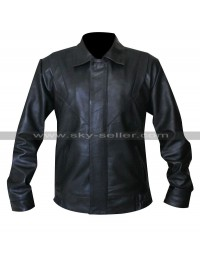 Michael Knight Rider Black Leather Jacket