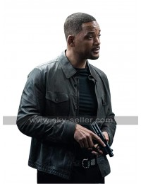 Bad Boys for Life Will Smith Biker Leather Jacket in Black and Brown