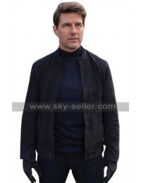 Mission Impossible Fallout Tom Cruise (Ethan Hunt) Black Suede Leather Jacket