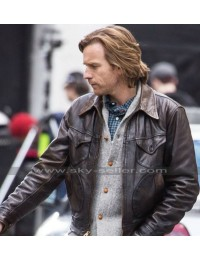 Our Kind of Traitor Ewan McGregor Brown Leather Jacket