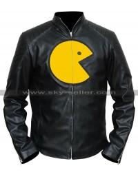 Pac Man Black Leather Jacket
