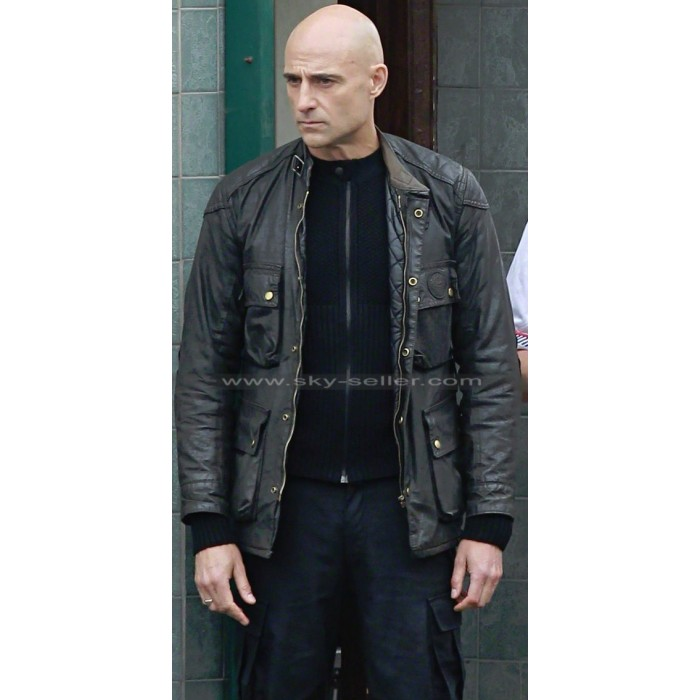 Sebastian Brothers Grimsby Mark Strong Black Leather Jacket