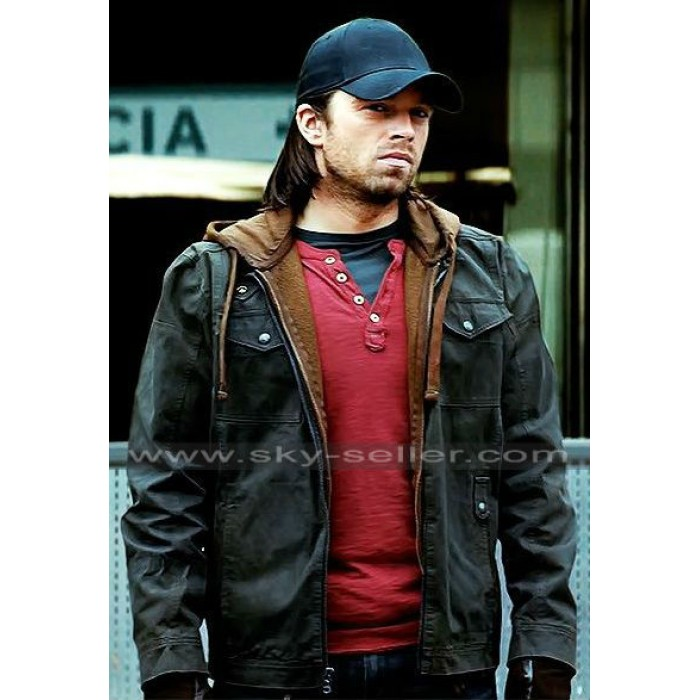 Sebastian Stan Civil War Winter Soldier Hoodie Jacket