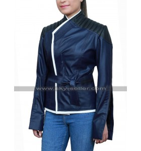 Yukio Deadpool 2 Shioli Kutsuna Costume Black Leather Jacket