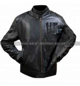 Star Wars The Force Awakens Han Solo Fighter Black Leather Jacket
