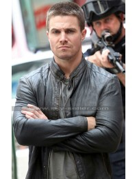 Stephen Amell Teenage Mutant Ninja Turtles Black Leather Jacket