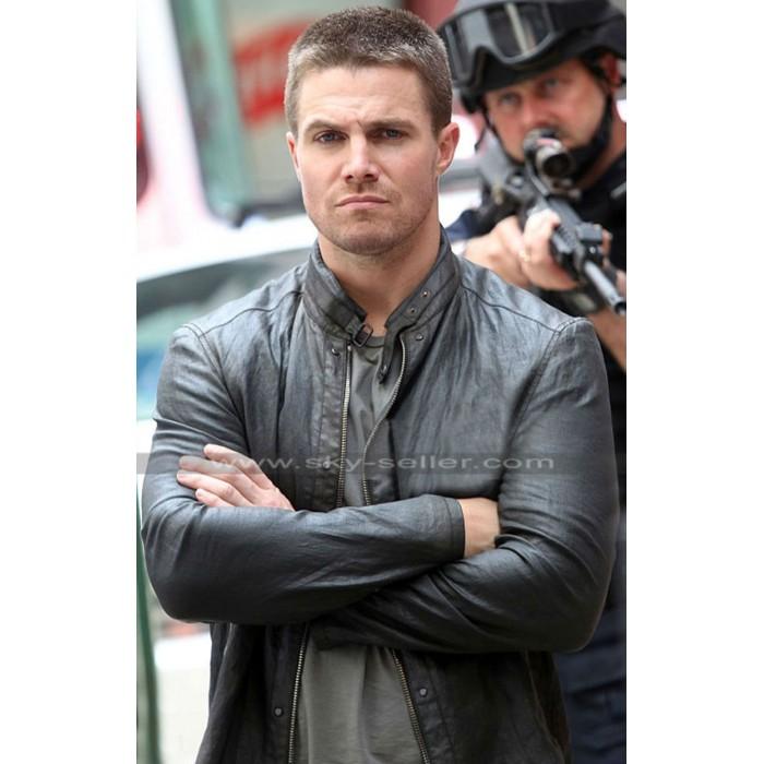 Stephen Amell Teenage Mutant Ninja Turtles Black Leather Jacket