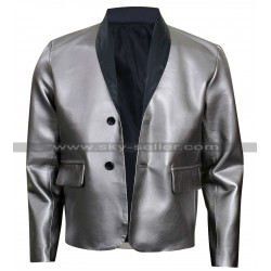 Suicide Squad Joker Costume Leather Silver Coat