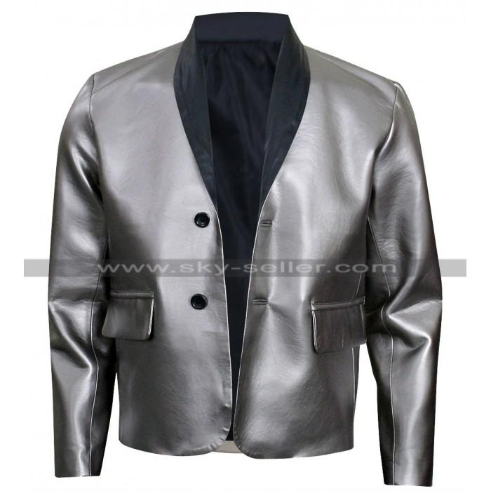 Suicide Squad Joker Costume Leather Silver Coat