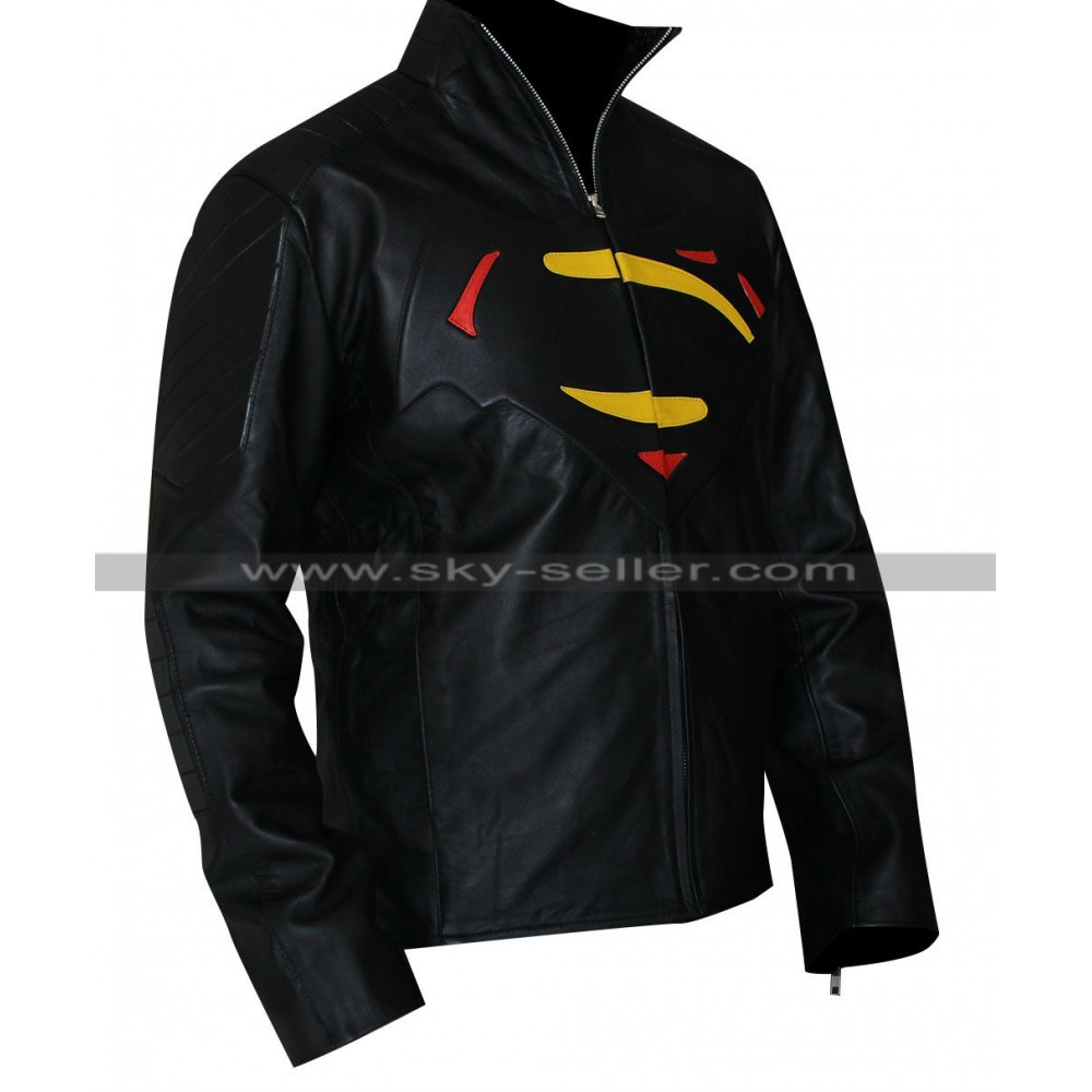 Logo leather jackets
