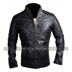 Superman Smallville Quilted Black Leather Jacket