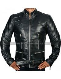 Terminator 3 Arnold Schwarzenegger Black Leather Jacket