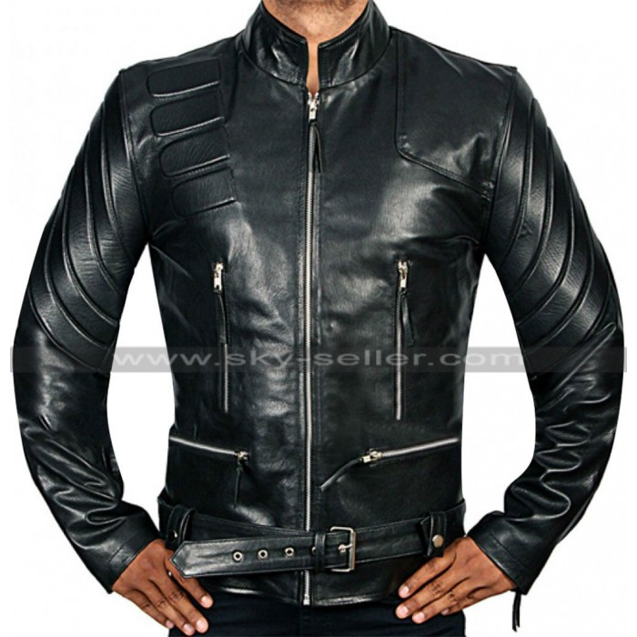 Terminator 3 Arnold Schwarzenegger Black Leather Jacket