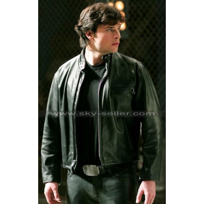 Tom Welling Smallville Clark Kent Schott Black Jacket