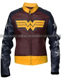 Wonder Woman Costume Leather Jacket Sale