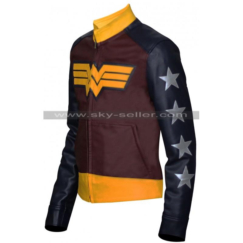 04667577f680 Wonder Woman Costume Leather Jacket Sale