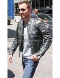 X-Men Apocalypse Michael Fassbender Black Quilted Jacket