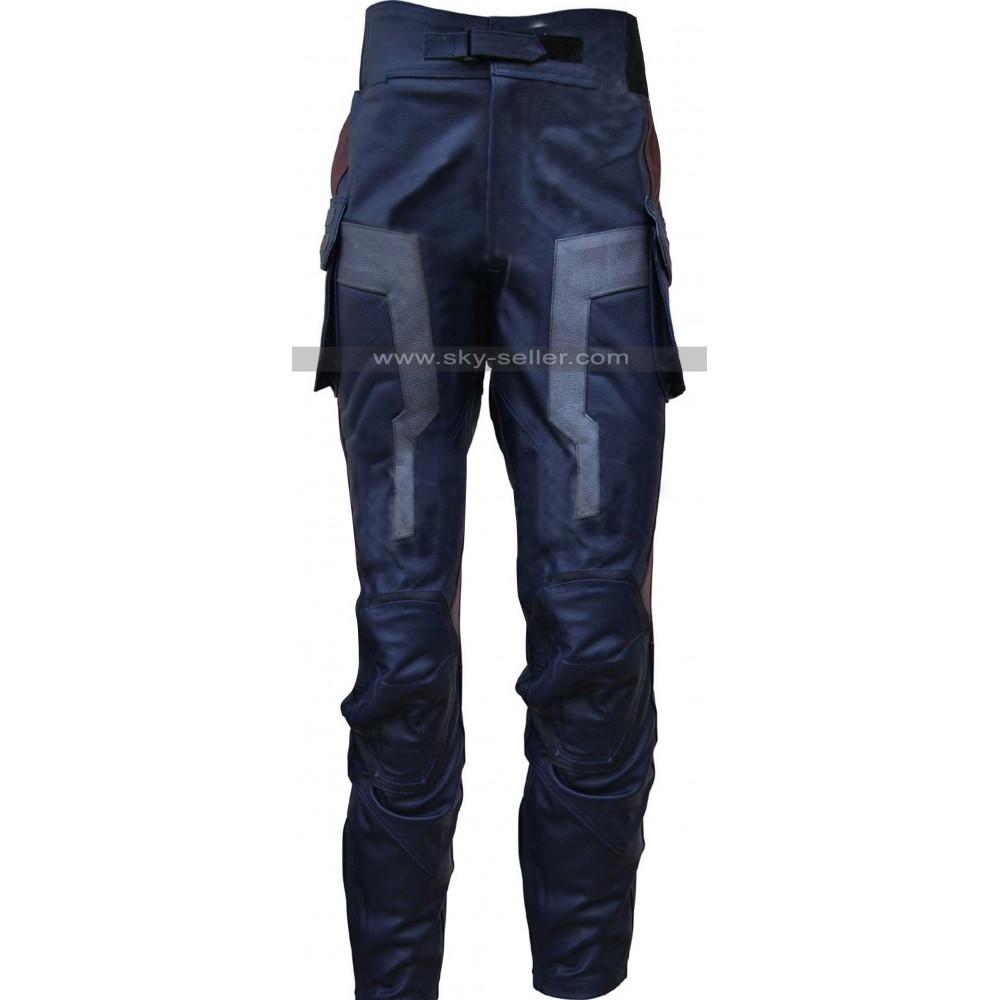 Captain America Avengers Costume Leather Pants