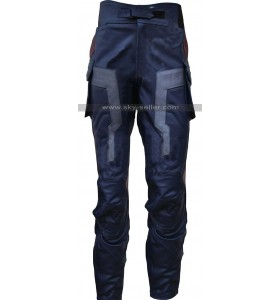 Captain America Avengers Costume Leather Pants