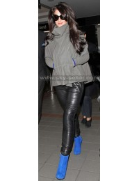 Cheryl Cole Slimfit Black Leather Pants