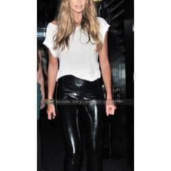 Elle Macpherson Black Leather Pants