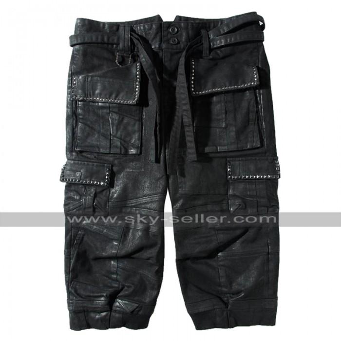 Noctis Lucis Caelum Final Fantasy XV Costume Leather Quarter Pants