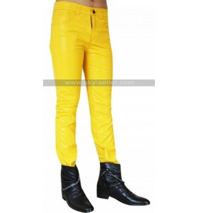 Freddie Mercury Yellow Leather Pants