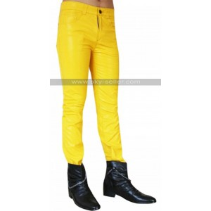 Freddie Mercury Yellow Leather Pants