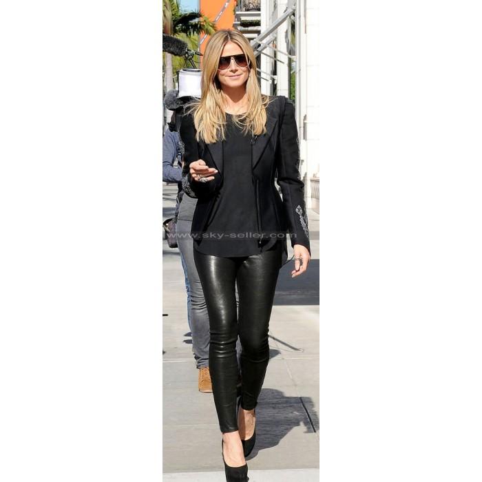 Heidi Klum Slimfit Black Leather Pants