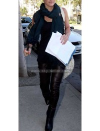 Hilary Duff Skin Tight Black Leather Pants